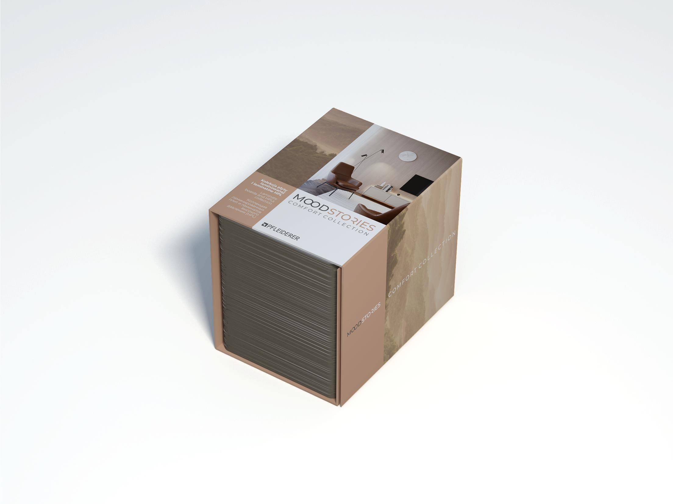 Wzornik listkowy płyt laminowanych i laminatów HPL kolekcji Mood Stories Comfort Collection