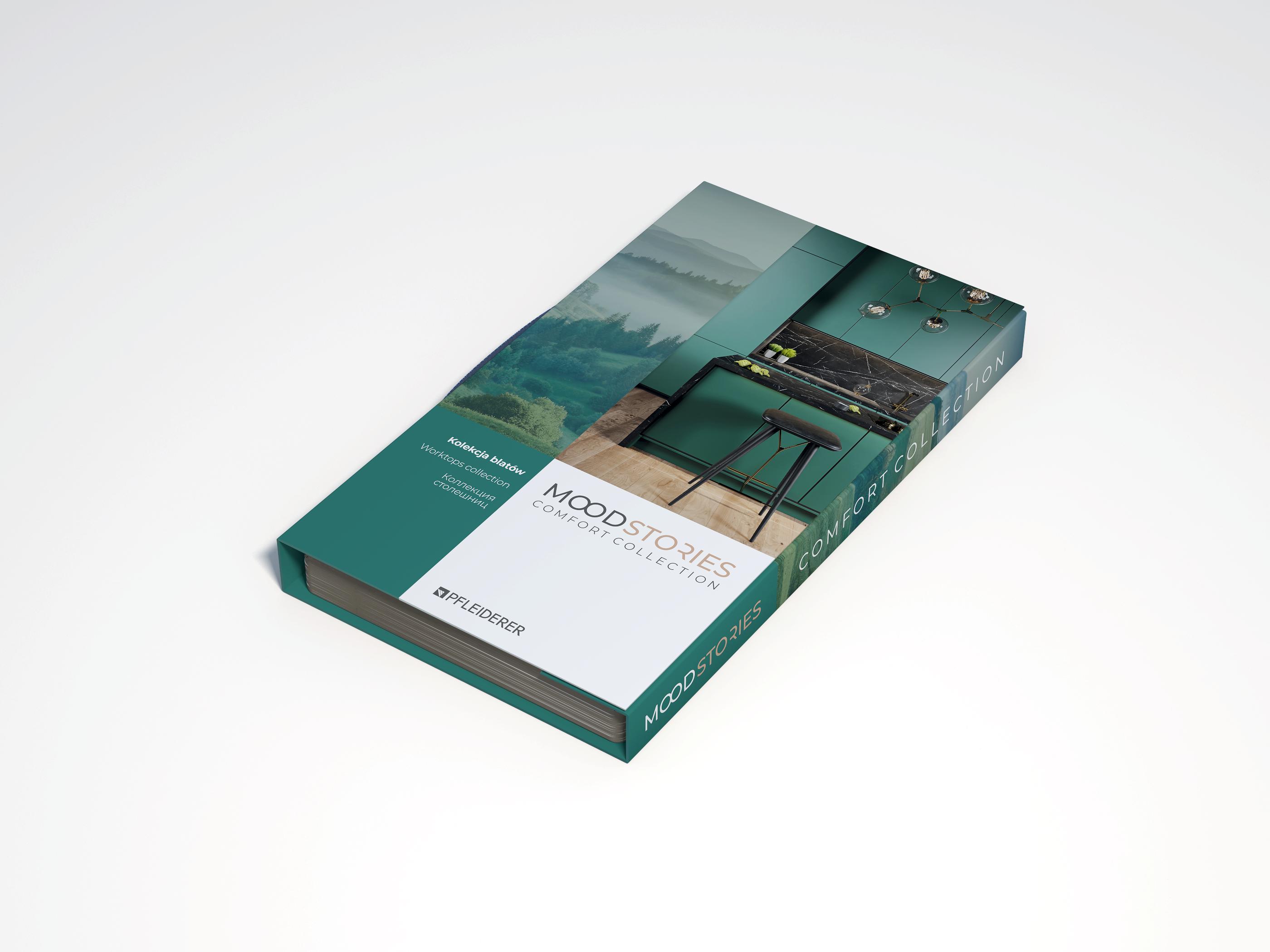 Wzornik Premium blatów roboczych i ścianek przyblatowych kolekcji Mood Stories Comfort Collection